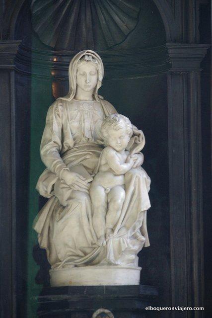 La Madonna y el niño de Miguel Ángel