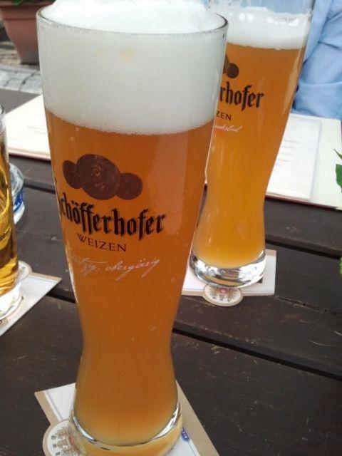 Cerveza Schöfferhofer, fabricada en Frankfurt