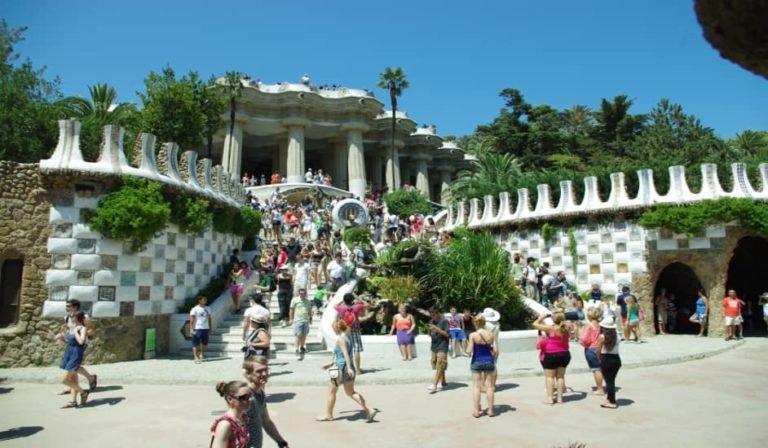 Entrada a Park Güell en Barcelona