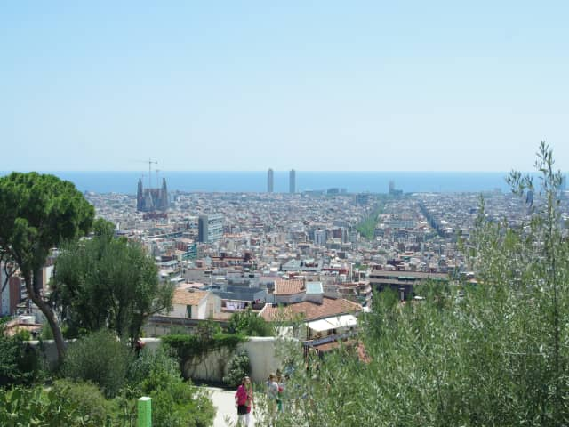 Vistas de Barcelona desde Parque Güell