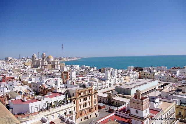 Vistas desde la Torre Tavira en Cádiz