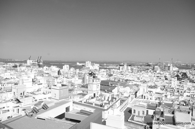 Vistas de la bahía de Cádiz desde la Torre Tavira