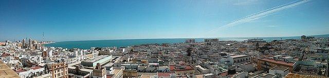 Panorámica de Cádiz desde Torre Tavira