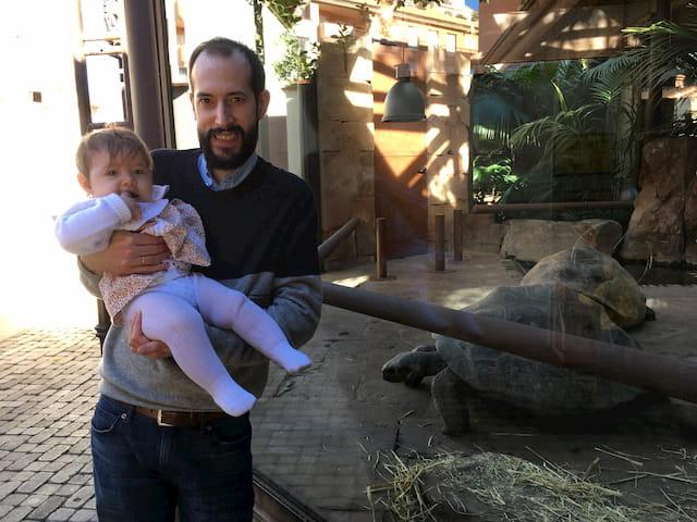 Pedro, Paula y las tortugas de Bioparc Fuengirola