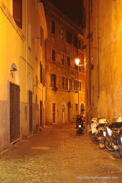 Calles de Trastevere en Roma