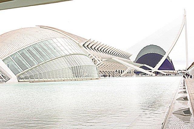 Panorámica de la Ciudad de las Artes y Ciencias de Valencia