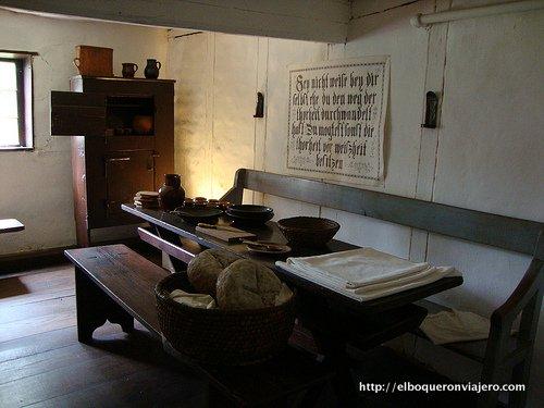 Salón de uno de los Claustros de Ephrata, Pennsylvania