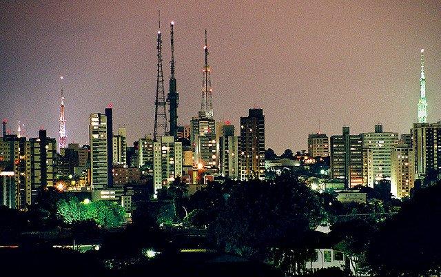 Skyline de Sao Paulo, Brasil