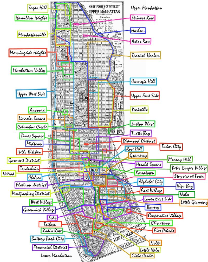 New York City mapa de Manhattan El Boqueron Viajero Bilingual – Mapa Manhattan New York