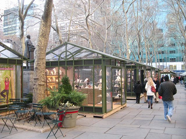 Christmas in New York, Bryant Park by Jim henderson