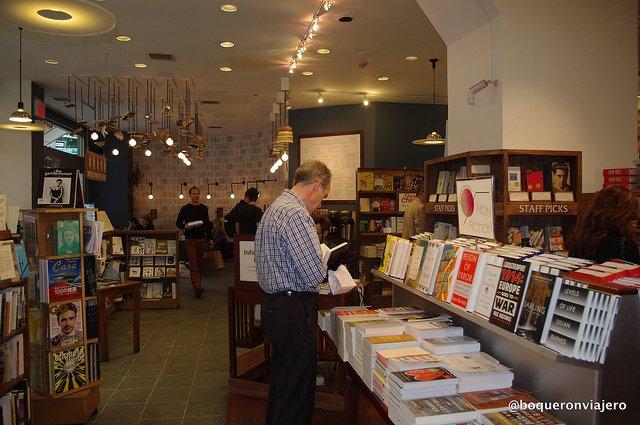 People reading at McNally Jackson Books NYC