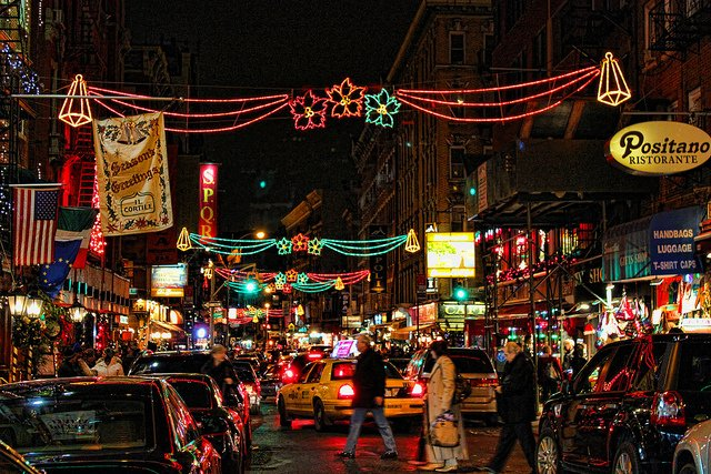 Christmas in New York, Little Italy by Gary Burke