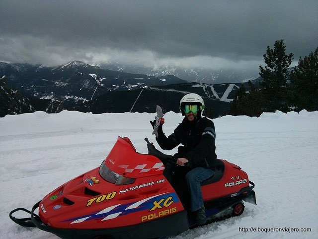 Images of our 2013: Snowmobiles in Andorra