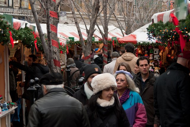 Christmas in New York, Union Square Markets by CasualCapture
