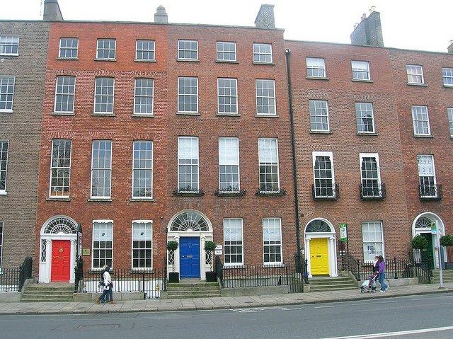 Qué ver en Dublín : Casas de colores