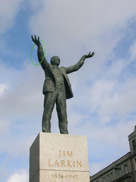 Qué ver en Dublín : estatua de Jim Larkin