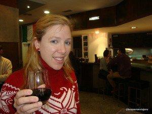 Abby en Bar Rufos, Calle Van Dyck Salamanca