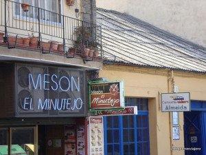 Entrada Meson El Minutejo, Calle Van Dyck Salamanca
