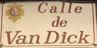 Letrero Calle Van Dyck en Salamanca