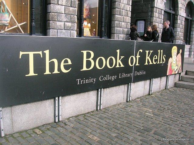 El Libro de Kells en Trinity College, Dublin
