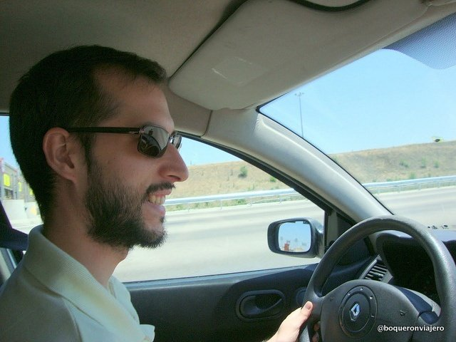 Pedro Ramirez driving to La Roda de Albacete