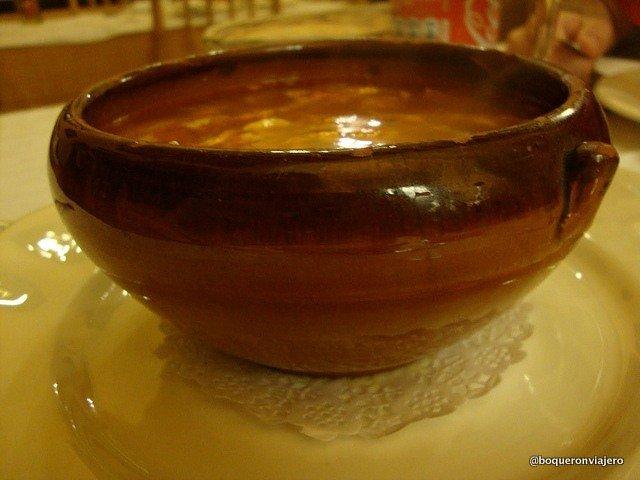 Sopa castellana de Casa Antonio en La Roda de Albacete