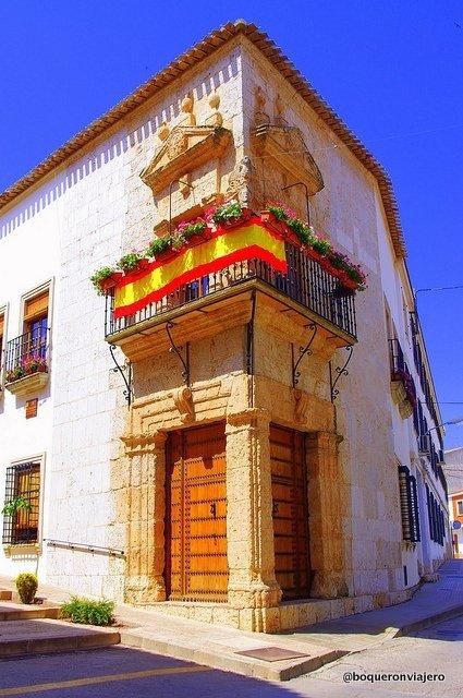 Balconies in La Roda de Albacete