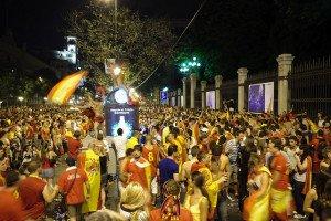España celebrando el mundial