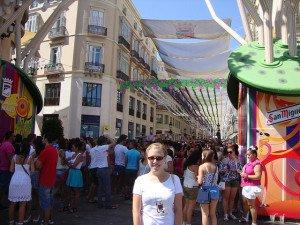 Abby Ramirez en la Feria de Malaga