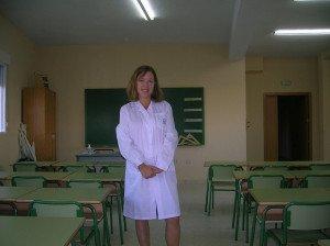 Abby en su aula en España