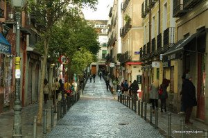 The streets of the neighborhood of Malasaña in Madrid