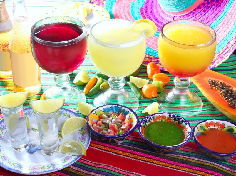 Typical food and drinks on Cinco de Mayo