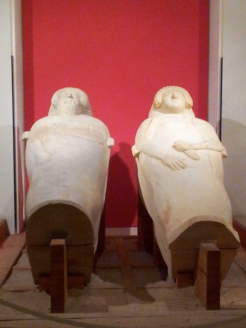 Sarcófagos en el Museo de Cádiz