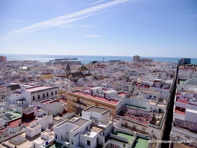 Cádiz visto desde la Torre Tavira
