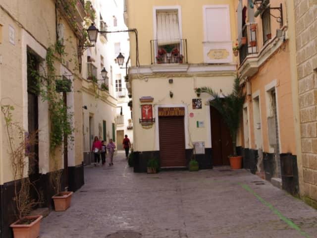 Barrio del Pópulo en Cádiz