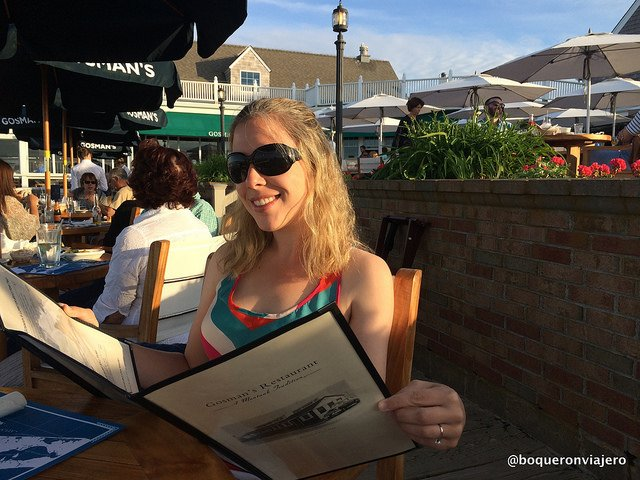 Abby en Gosman's Restaurant, Montauk