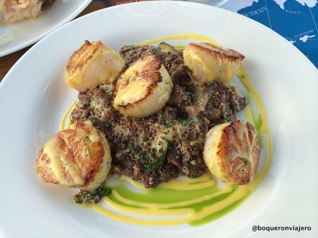 Filetes de vieira en Gosman's Restaurant, Montauk