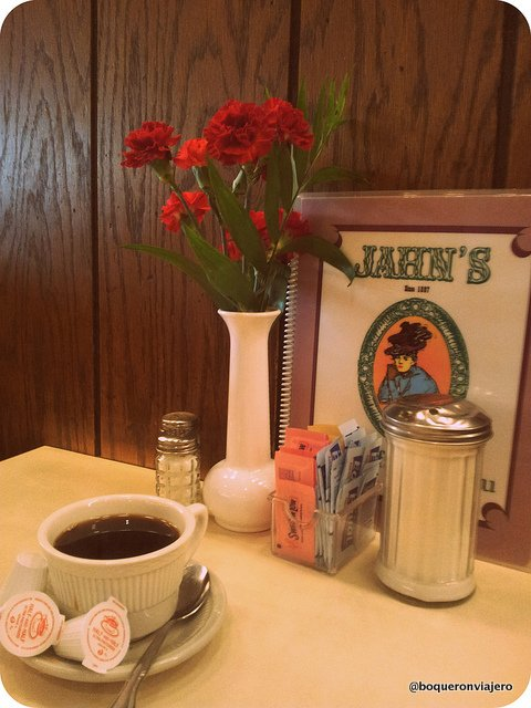 Tables of Jahn's Diner, Jackson Heights