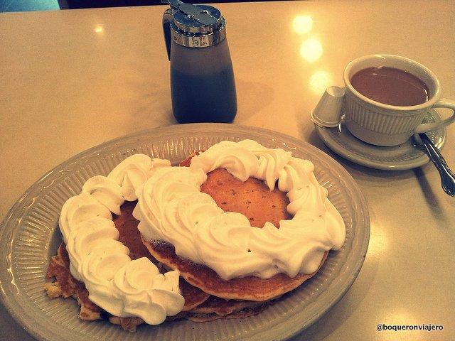 Pancakes at Jahn's Diner, Jackson Heights