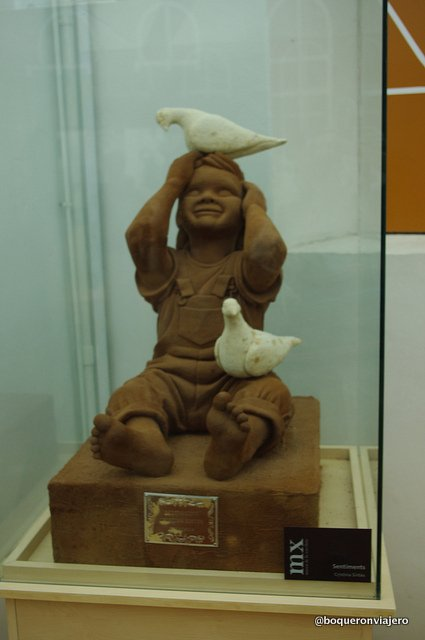 Chocolate sculpture in the Chocolate Museum in Barcelona