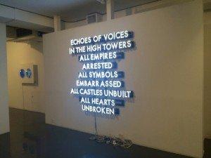 Artwork in a gallery in Chelsea