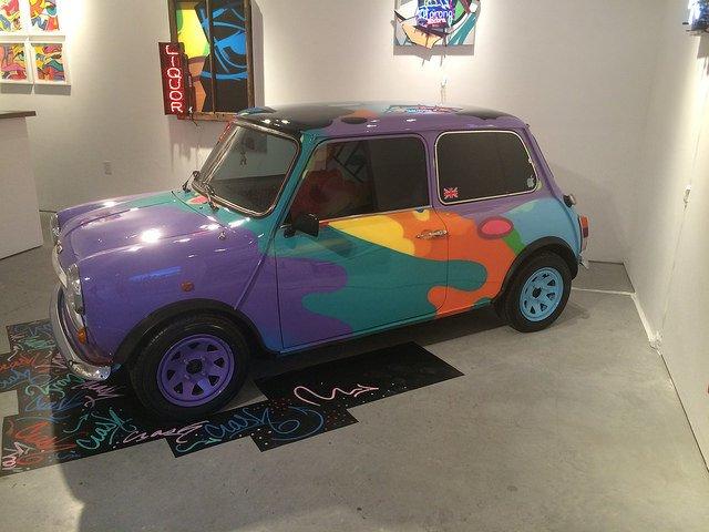 Obra en una galería de arte en Chelsea