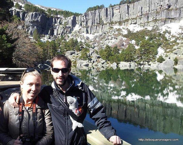 Abby y Pedro en La Laguna Negra, Soria