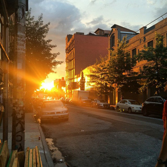Sunset in Chelsea NYC