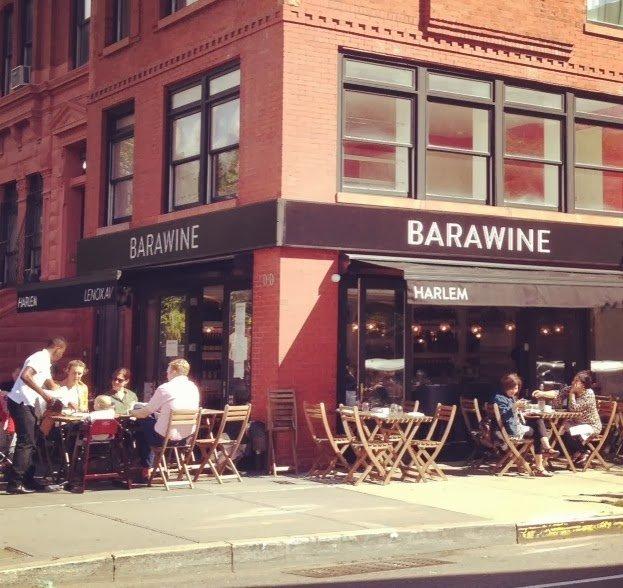 Outside terrace at Barawine Harlem Restaurant