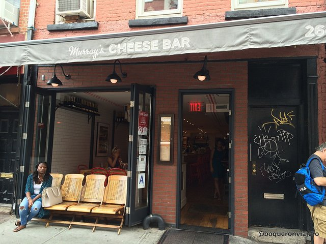 Entrance to Murray's Cheese Bar, New York