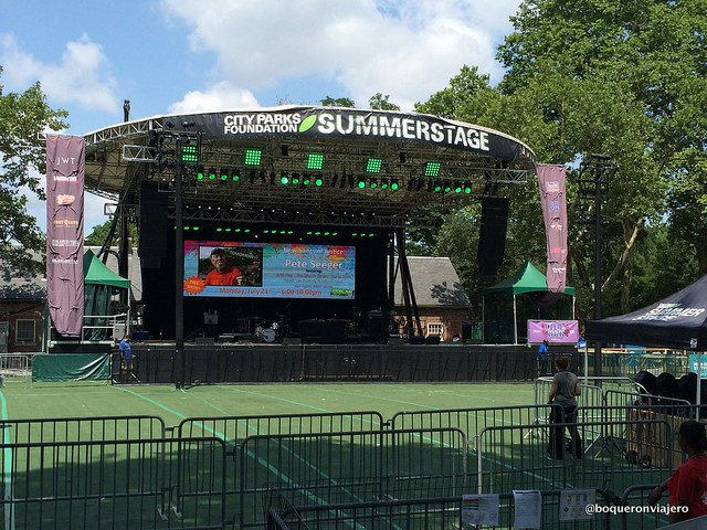 Stage in Central Park SummerStage New York