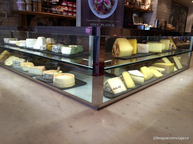 Cheeses in Murray's Cheese Bar, New York