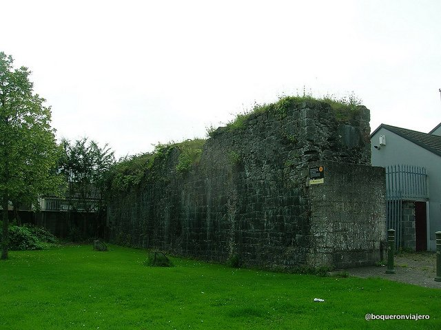 Ruins of the city wall in Limerick