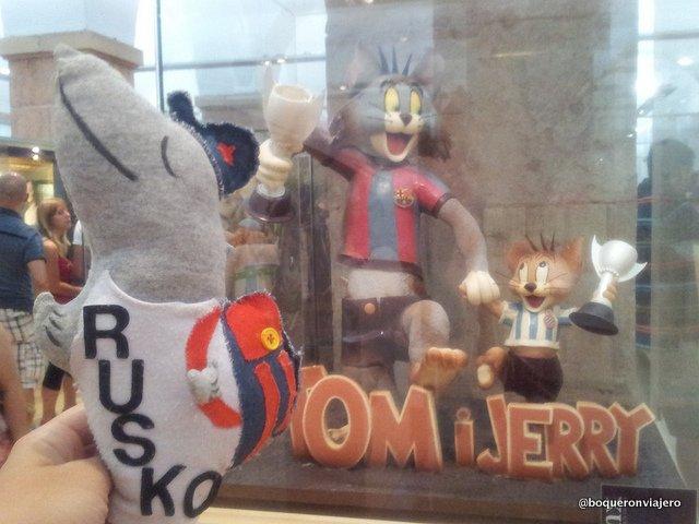Rusko en el Museo de la Xocolata de Barcelona